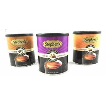 Stephens Gourmet Hot Cocoa Variety Pack (Toasted Coconut/Italian Amaretto/Orange Chocolate)