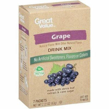 Great Value Grape Drink Mix, 7 Count, 2.22 Oz (Pack 4)