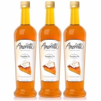 Amoretti Premium Pumpkin Pie Syrup 750ml 3 Pack