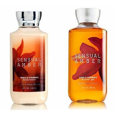 Bath & Body Works Sensual Amber Body Lotion & Shower Gel Bundle Pack