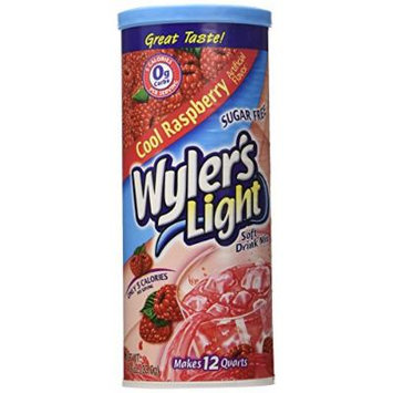 Wyler's Light Soft Drink Mix, Cool Raspberry, 1.16-ounce Canister (Pack of 3)