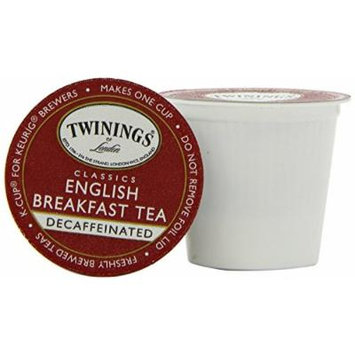 Twinings English Breakfast Decaffeinated Tea, K-Cup Portion Pack for Keurig K-Cup Brewers, 96 Count