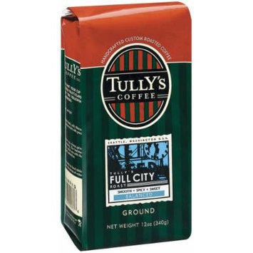 Tully's Coffee Full City Roast, Ground , 12 Ounce Bags (Pack of 3)