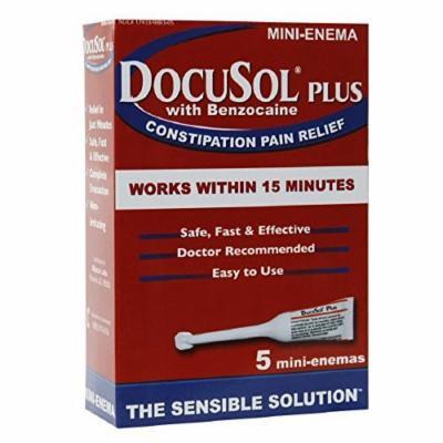 Docusol Plus Docusate Sodium with Benzocaine 5 Count (2 PACK)