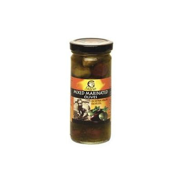 Mixed Marinated Olives in Extra Virgin Olive Oil From Greece -256g