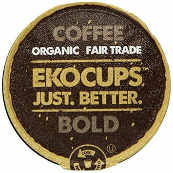 EKOCUPS Organic Artisan Coffee Bold, Dark roast for Keurig K-cup single serve Brewers, 0.5 Ounce, 10 count