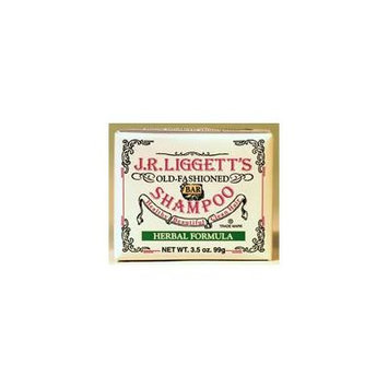 J.R. Liggett's Bar Shampoo, Herbal Formula, 3.5 Oz (Pack of 3)