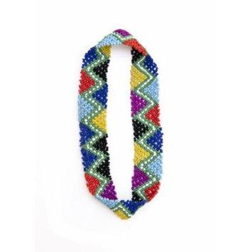 Sizzle City Custom Bling Rhinestone Bohemian Pattern Seed Bead Elastic Stretch Headbands (Native American Seed Bead Headband Style C)