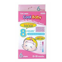 Cool Baby Fever Patch (6 Patch per box) , For instant cooling sensation up to 8 hours fever relief , Safe , Desired for baby 0-15 months