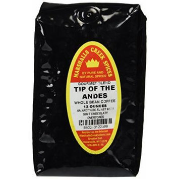 Marshalls Creek Spices Gourmet Whole Bean Coffee, Tip of the Andes, 12 Ounce