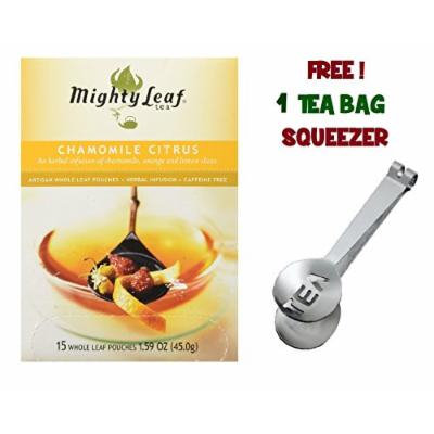 Mighty Leaf Tea ,Chamomile Citrus Blossom ,(with FREE Tea Bag Squeezer) (1 Pack)