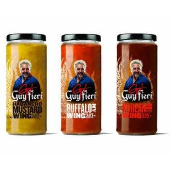 Guy Fieri Wing Sauce Combo Pack - Korean BBQ, Habanero Mustard, Buffalo NY