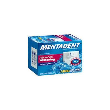 Mentadent Advanced Whitening Fluoride Toothpaste Refill-5.25 oz