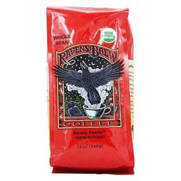 Raven's Brew Coffee - Ebony Pearls French Roast Organic Whole Bean Coffee - 12 oz.