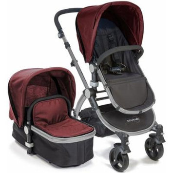 Baby Roues LeTour II RASPBERRY Lightweight Compact Stroller w/ Bassinet