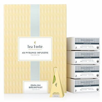 Tea Forté® BULK PACK English Breakfast Black Tea, 48 Handcrafted Pyramid Tea Infusers