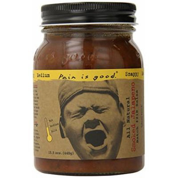 Pain Is Good Smoked Jalapeno Salsa Sauce, 15.5 Ounce