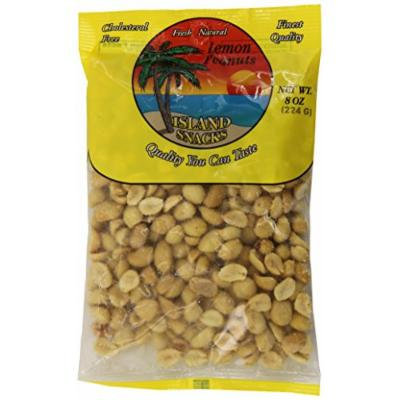 Island Snacks Peanuts, Lemon, 7.5-Ounce (Pack of 6)