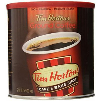 Pack of 2 Tim Horton's 100% Arabica Medium Roast Original Blend Ground Coffee, 32.8 oz