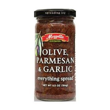 Mezzetta Everything Spread 6.5oz-7oz Glass Jar (Pack of 4) Select Flavor Below (Olive Parmesan & Garlic 6.5oz)