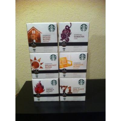 Starbucks Variety 96 K-cups Includes House Blend, French Roast, Sumatra, Pike Place, Veranda, Breakfast