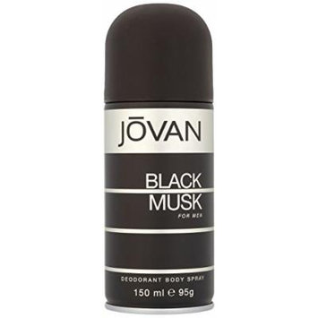 Coty Jovan Black Musk Deodorant Body Spray for Men, 5 Ounce