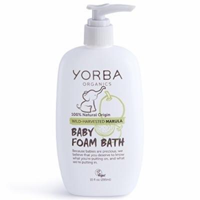 Yorba Organics Baby Foam Bath with Wild-Harvested Marula, 10 Fluid Ounce