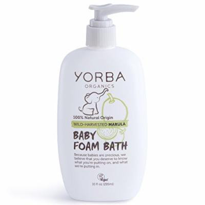 Yorba Organics Baby Foam Bath with Wild-Harvested Marula, 10 Fluid Ounce