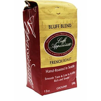 Caffe Appassionato Bluff Blend Ground Coffee, 12-Ounce Bag (Pack of 3)