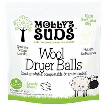 Molly's Suds 100% Wool Dryer Balls (set of 3)