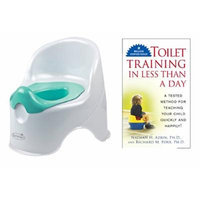 Summer Infant Lil' Loo Potty with Toilet Training In Less Than a Day Guide Book, White