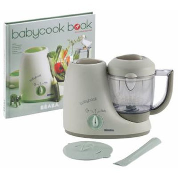 Beaba Babycook Classic Baby Food Maker with Cookbook, Latte Mint