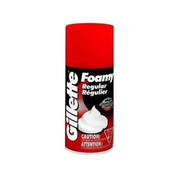 Special pack of 5 FOAMY SHAVING CREAM REGULAR 4040 11 oz by Med-Choice