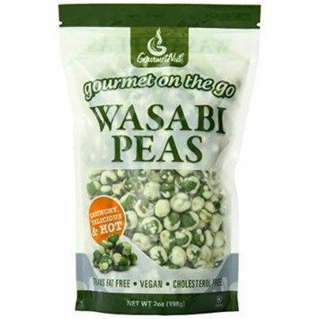 Gourmet Nut Snack Bag, Wasabi Peas, 7 Ounce