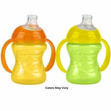 Nuby 2 Handle Super Spout No Spill Cup, Colors May Vary, 7 Ounce assorted Colors (6 pack)