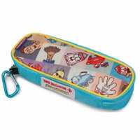AllerMates - Allergy Medicine Carrying Case for EpiPen® or Auvi-Q® auto-injectors: Squares Pattern - Epipen Case