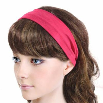 Simple Solid Color Stretch Headband - Magenta (1 Pc)
