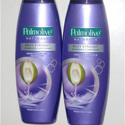 Lot of 2 Palmolive Naturals Silky Straight Shampoo & Conditioner Frizzy/Wavy Hair 180ml