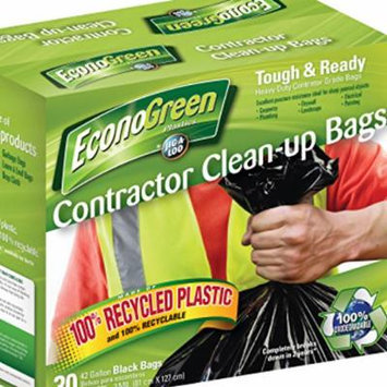 Econogreen - Best 42-gallon Recyclable, Heavy Duty and Eco-friendly Contractor Trash Bags Made From Recycled Plastic (30-count)