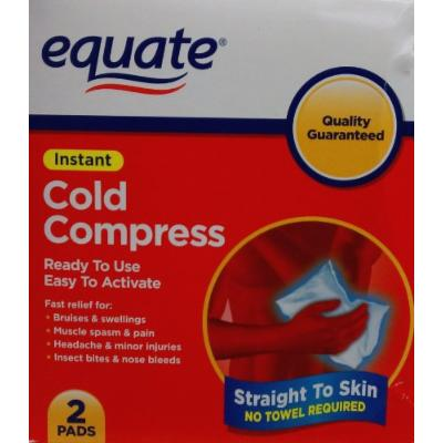Instant Cold Compress by Equate Package of Two