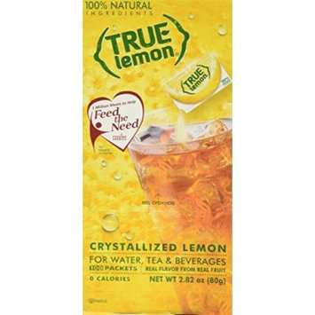 True Lemon Dispenser Pack 100ct. Plus 5 SAMPLE sticks of True Lemon Lemonade, Peach, Raspberry, Black Cherry, and Orange Mango. Natural Flavored Water Enhancer, Great beverage option for Paleo Diet, Adkin's Diet, and other healthly diet programs.