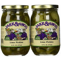 Jake & Amos - Lime Pickles / 2 - 16 Oz. Jars