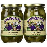Jake & Amos - Lime Pickles / 2 - 16 Oz. Jars