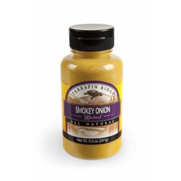 Terrapin Ridge Farms Gourmet Mustard 2 Bottles - Unique & Bold Mustard Flavors In A Convenient Squeeze Bottle (Smokey Onion)