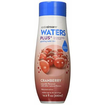 SodaStream - Waters Plus+ Cranberry Sparkling Water Mix (440ml/14.8floz) ...
