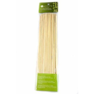 Good Living Set of 100 12-Inch Bamboo Skewers For Fruit, BBQ, Shrimp, Vegetables and More, 3-pack (300 Skewers in Total)