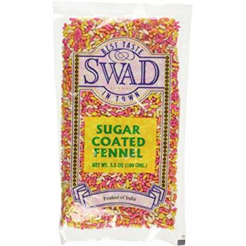 Swad Sugar Coated Fennel Seeds -3.5oz- Indian Grocery (Pack of 3)