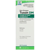 Quality Choice Non-Drowsy Tussin DM Alcohol-free Cough & Chest Congestion Supressant/Expectorant 8 Fluid Ounces (237ml), Boxes (Pack of 6)