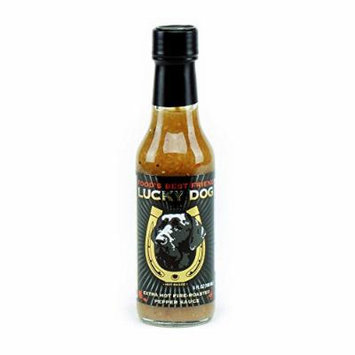 Lucky Dog Extra Hot Fire-roasted Pepper Sauce (Black Label) 5 Fl Oz