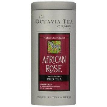 Octavia Tea African Rose (Caffeine-Free Red Tea/Rooibos) Loose Tea, 2.65-Ounce Tins (Pack of 2)